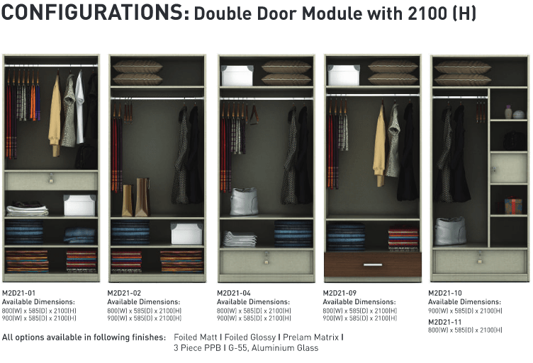 Configurations Double door module