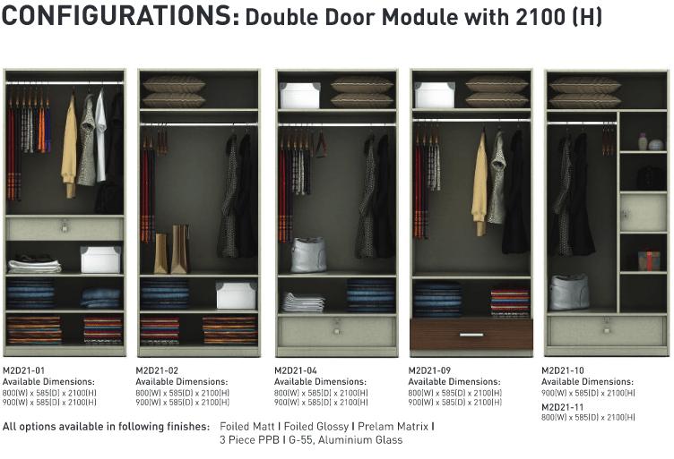 Configurations Double door module