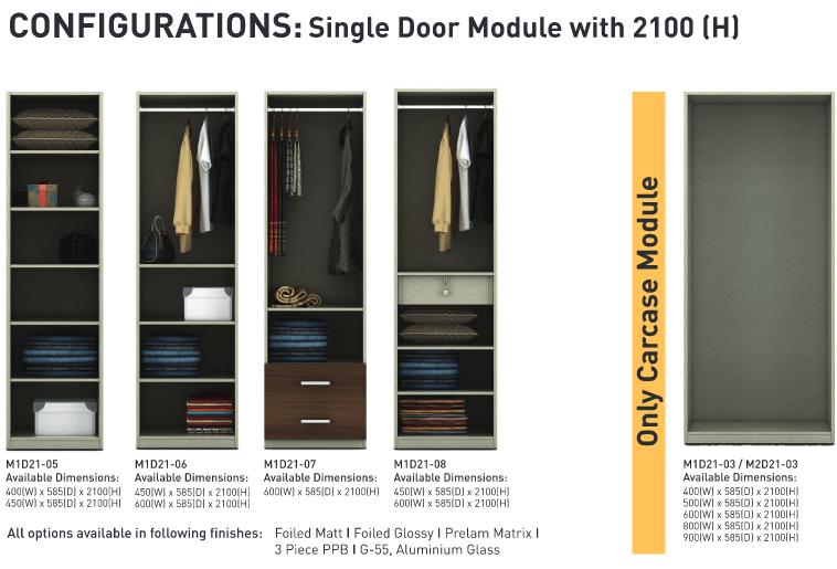 Configurations Single door module