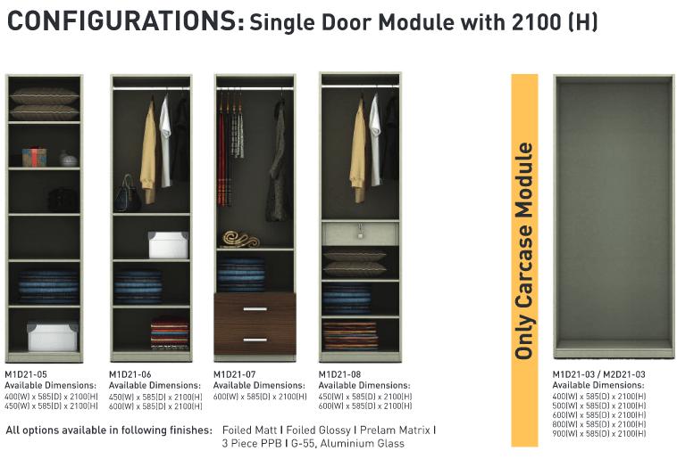 Configurations Single door module
