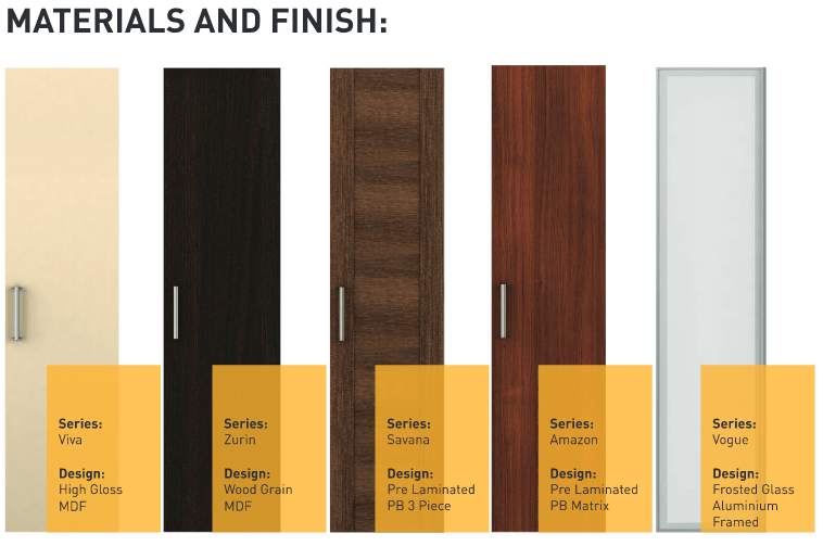 Materials and finish