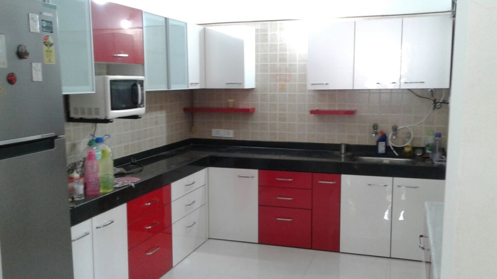Best l shape kitchen wold class service at most for Home furniture design pune